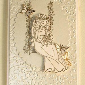 Открытка ручной работы с невестой в омске