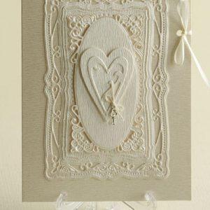 Ажурная свадебная открытка ручной работы омск