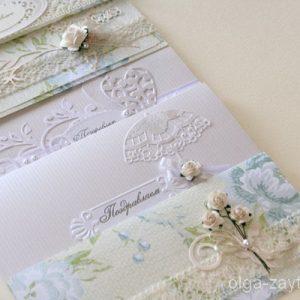 открытки и конверты ручной работы на свадьбу (3)